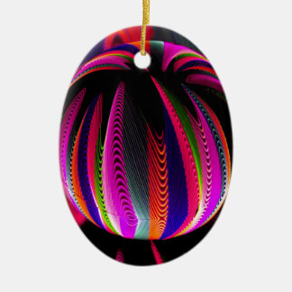 Variation of colours in the glass christmas ornament