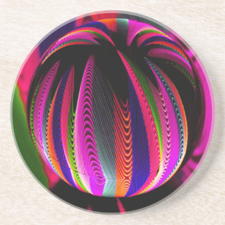 Variation of colours in the glass coaster