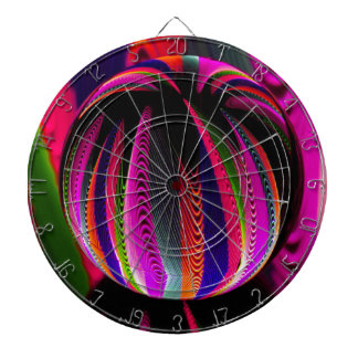 Variation of colours in the glass dartboard