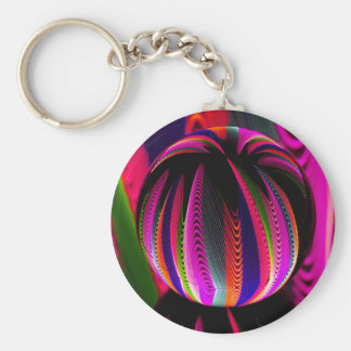 Variation of colours in the glass key ring