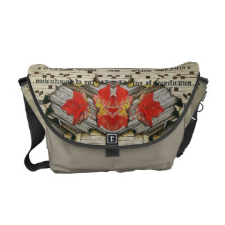 Variation of Fall Leaves Manuscript Commuter Bag