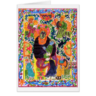 Variation on Madonna and Child note card (blank)