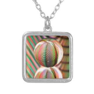 Variation on the theme silver plated necklace