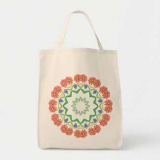 Variations On A Daisy, Mandala Art Tote Bag