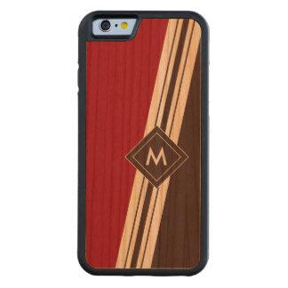 Varied Width Stripes Monogram Wood iPhone Cherry iPhone 6 Bumper Case