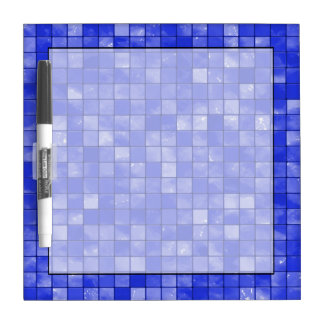 Variegated cobalt Blue Tile Pattern Dry Erase Board
