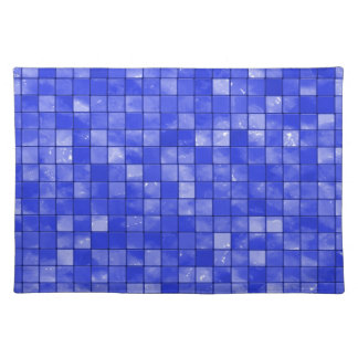 Variegated cobalt Blue Tile Pattern Placemat