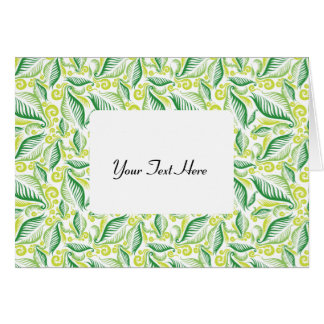 Variegated Green Ferns Stationery Note Card