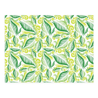 Variegated Green Ferns Post Cards