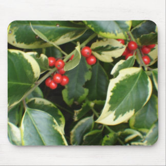 variegated holly mouse pad