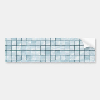 Variegated Pastel Aqua Tile Pattern Bumper Sticker