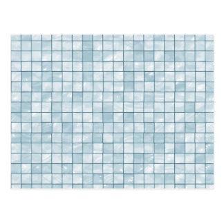 Variegated Pastel Aqua Tile Pattern Postcard