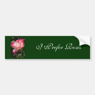 Variegated Rose Floral Gift Car Bumper Sticker