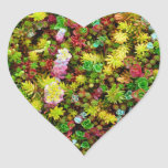 Variegated Succulents Multicolored Plants Heart Sticker