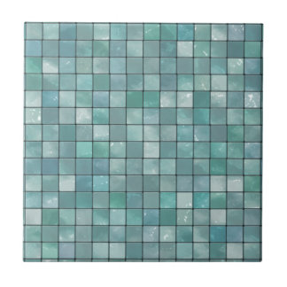 Variegated Teal Tile Pattern