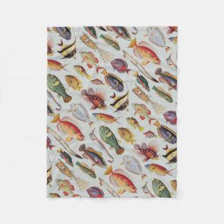 Varieties of Fish Fleece Blanket