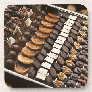Variety of Artisanal Chocolate Pralines Coaster
