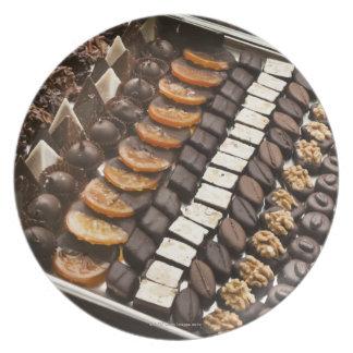 Variety of Artisanal Chocolate Pralines Plate