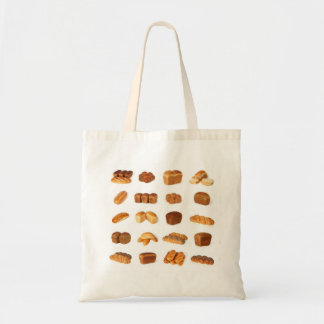 Variety of bread budget tote bag