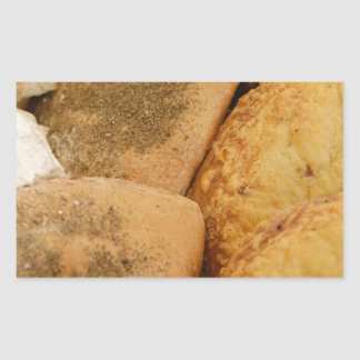 Variety of bread products rectangular sticker