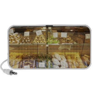 Variety of cookies in display case mp3 speakers