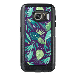 Variety Of Green Tropical Leafs Pattern OtterBox Samsung Galaxy S7 Case