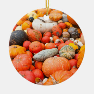 Variety of squash for sale, Germany Round Ceramic Decoration
