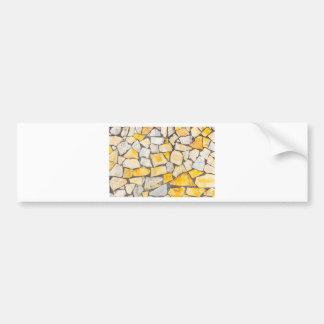 Variety of stones brickwork or masonry bumper sticker