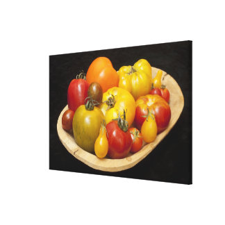 Variety of tomatoes canvas print