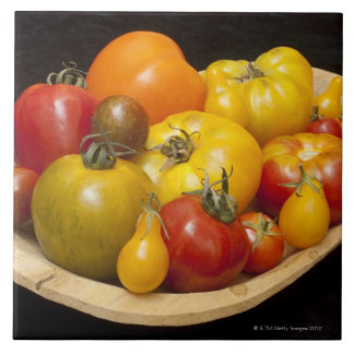 Variety of tomatoes large square tile