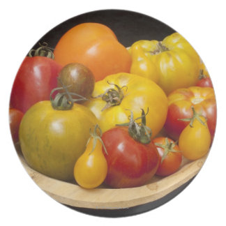Variety of tomatoes plate