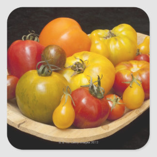 Variety of tomatoes square sticker