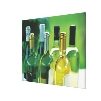 Variety of wine bottles canvas print