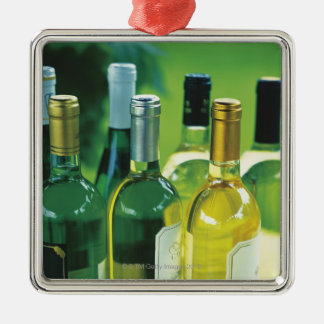 Variety of wine bottles christmas ornament