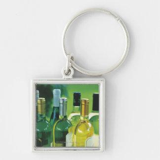 Variety of wine bottles key ring