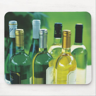 Variety of wine bottles mouse mat
