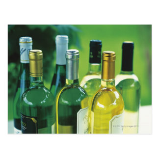 Variety of wine bottles postcard