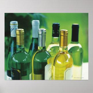 Variety of wine bottles poster