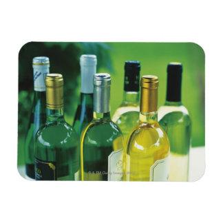 Variety of wine bottles flexible magnet