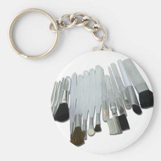 VarietyCosmeticBrushes110511 Basic Round Button Key Ring