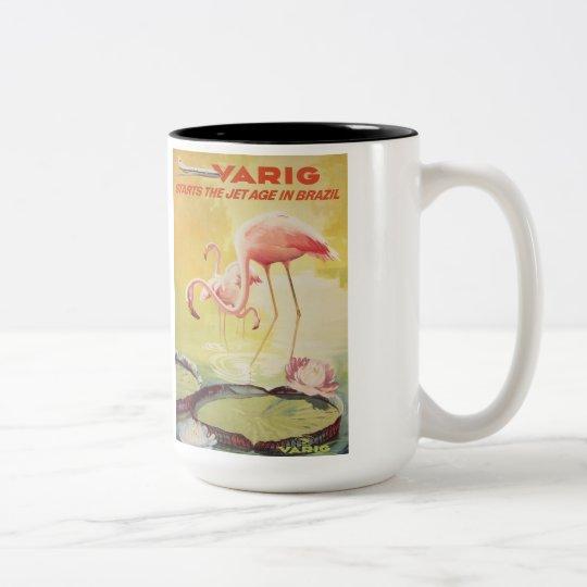 Varig Vintage Poster for Brazil Mug