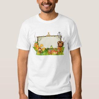 various animals on earth globe tee shirts