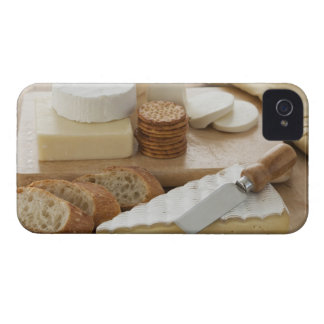 Various cheeses and bread on table iPhone 4 Case-Mate case