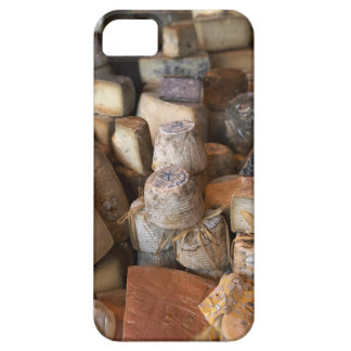 Various cheeses on market stall, full frame case for the iPhone 5