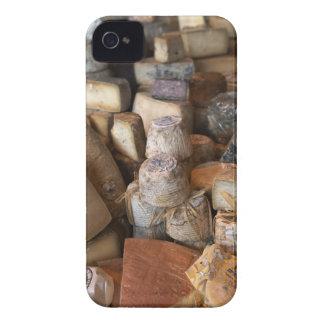 Various cheeses on market stall, full frame iPhone 4 cover