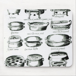 Various Cooking Vessels, 1570 Mouse Mat