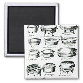 Various Cooking Vessels 1570 Refrigerator Magnet