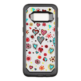 Various Cute Hearts Pattern OtterBox Commuter Samsung Galaxy S8 Case