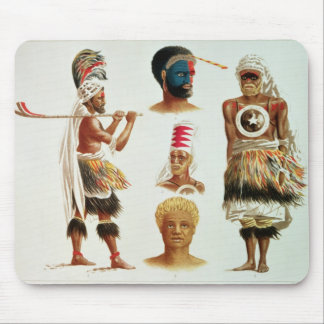 Various Dancing Costumes Worn at Nakello, Fiji Mouse Pad