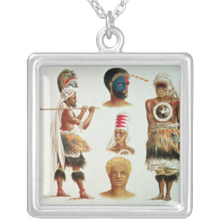 Various Dancing Costumes Worn at Nakello, Fiji Silver Plated Necklace